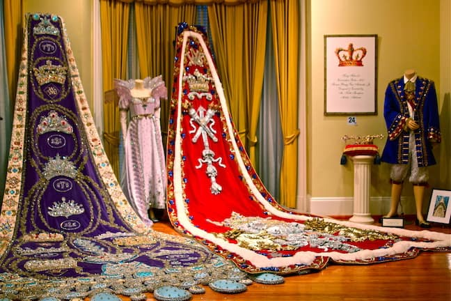 Historic Mardi Gras Capes & Gowns at Mobile Carnival Museum