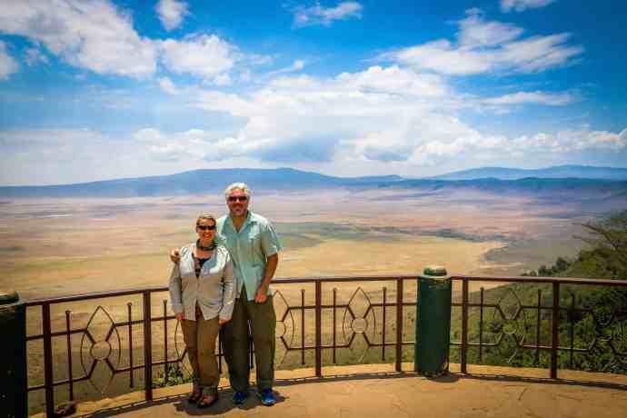 Bret Love and Mary Gabbett in Tanzania's Ngorongoro Conservation Area