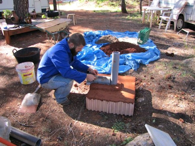 Setting the Forms for the Rocket Pizza Oven