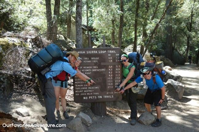 Hiking the John Muir Trail - Start of trail