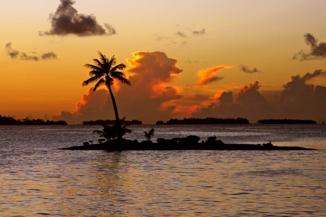 Picturesque sunset on our last night in Tahiti.
