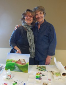 Artist, Janice McGarvey & me!