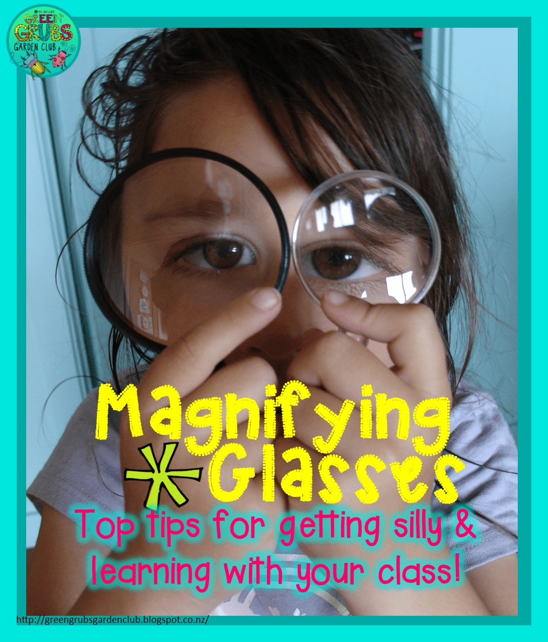 Magnifying Glass Silliness Free Printable Activity Sheet