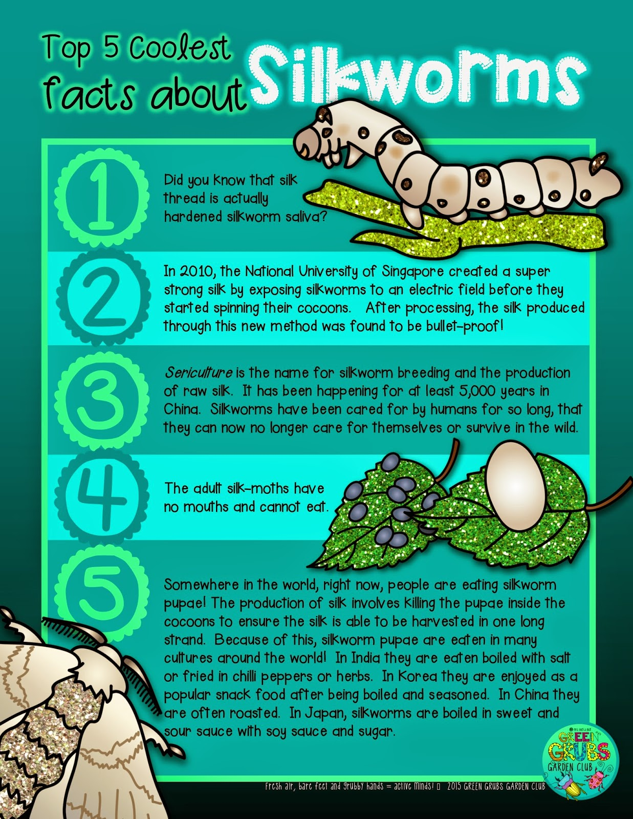 Top 5 Coolest Facts About Lkworms Free Printable