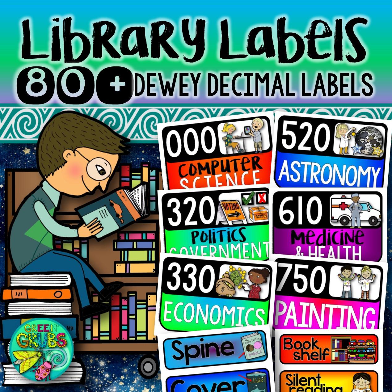 Dewey Decimal System Amp Library Vocabulary Labels English