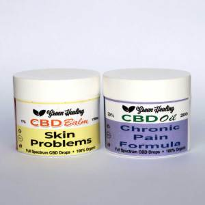 Combo CBD Balm Skin Problems CBD Oil Chronic Pain Formula | Green Healing