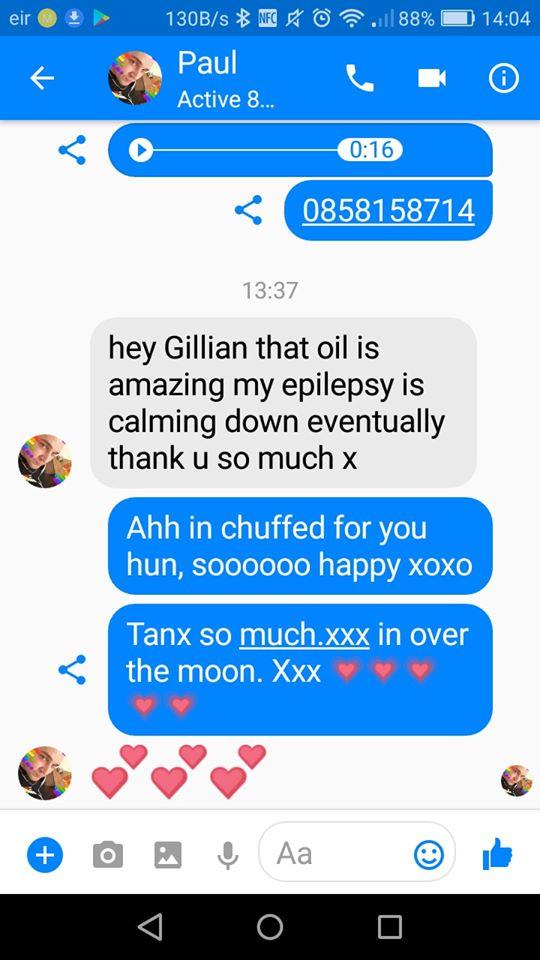 Gillian Melia - Testimonial - Green Healing