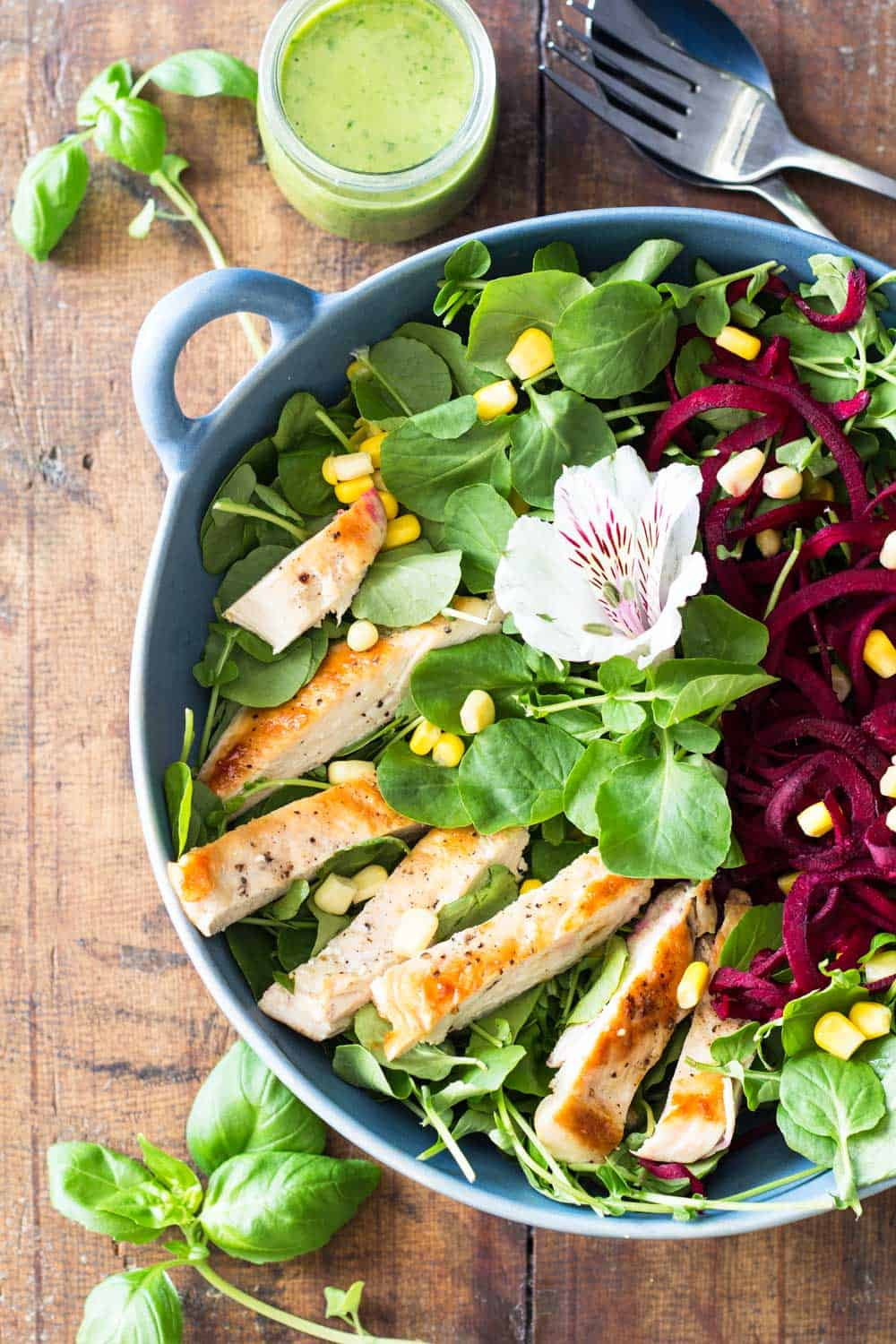 A gorgeous, delicious, healthy and nutritious summer salad. This Watercress Salad with Basil Clementine Dressing is an iron power bomb.