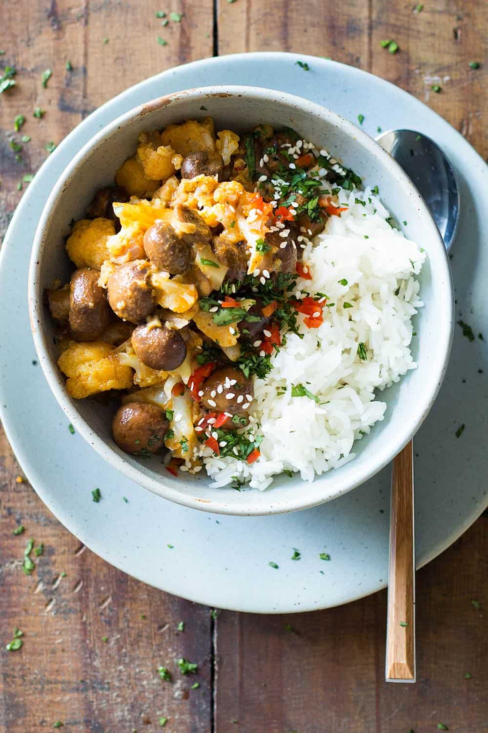 This 20-Minute Thai Vegan Yellow Curry is absolutely delicious and super easy to make. All clean ingredients and packed full of vegetables.