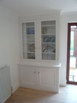 Painted dresser with glazed doors