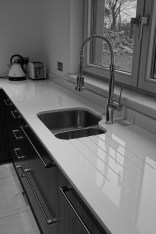Silestone sink and drainer worktop