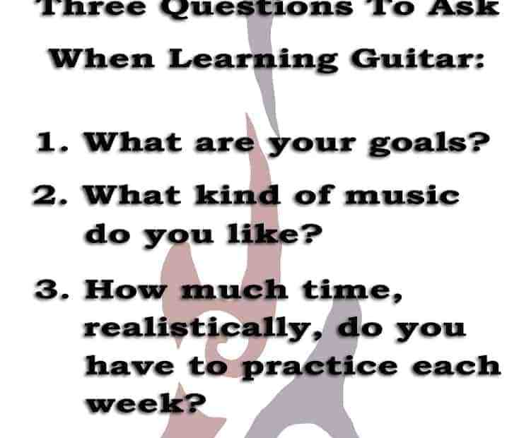 3 questions for finding a guitar instructor.