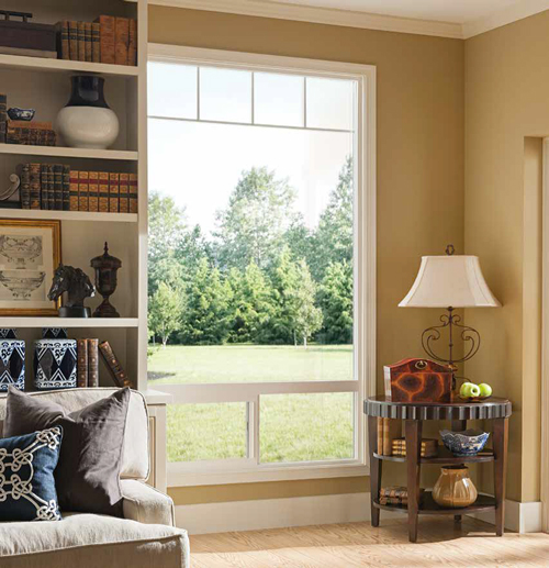 Milgard provides numerous combinations of windows, doors, and transoms in any array you can imagine. The clean, slim style creates a modern backdrop in any room.