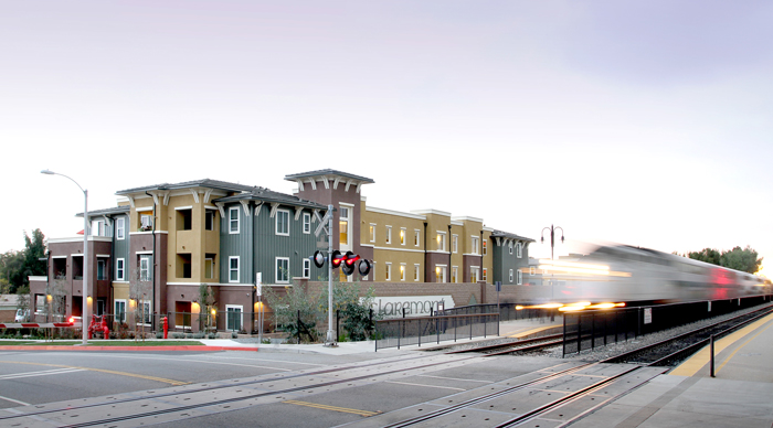 Courier Place Apartment Homes in Claremont, CA, is Jamboree's first transit-oriented development to be financed by the County of Los Angeles Community Development Commission's Economic/Redevelopment Division.