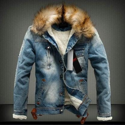 Casual Winter Thick Denim Retro Jacket available in 2 colors