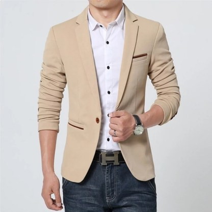 Cotton Slim Blazer available in 5 colors