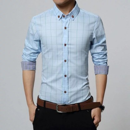 Cotton Plaid Shirt available in 7 colors