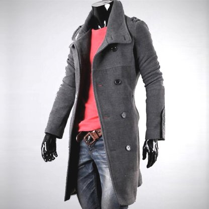 Long Slim Overcoat available in 2 colors
