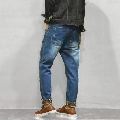 Patch Jeans Joggers