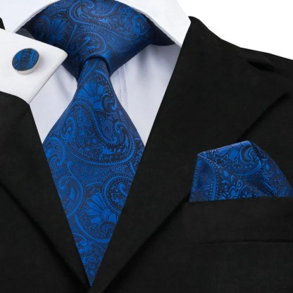 Tie, Hanky, Cufflinks available in 2 colors
