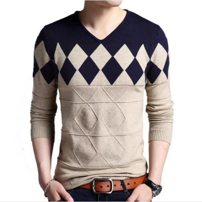 V-NECK Pullover available in 2 colors