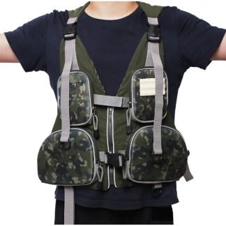 Adjustable Fishing Hunting Vest Camo