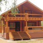 Современный бревенчатый дом - GreenhouseBay.ru