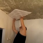 Поклейка потолочных плит