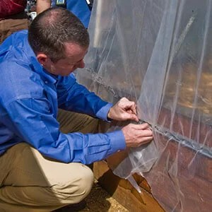 HOW TO ANCHOR GREENHOUSE PLASTIC