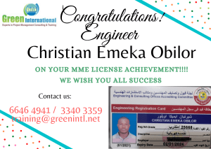 Congratulations to Engineers who have Obtained MME Engineer Registration Card in Sep 2020-Jan 2021