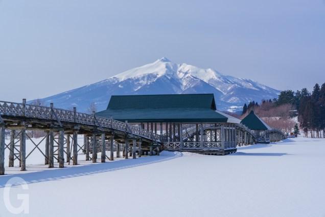 冬の鶴の舞橋