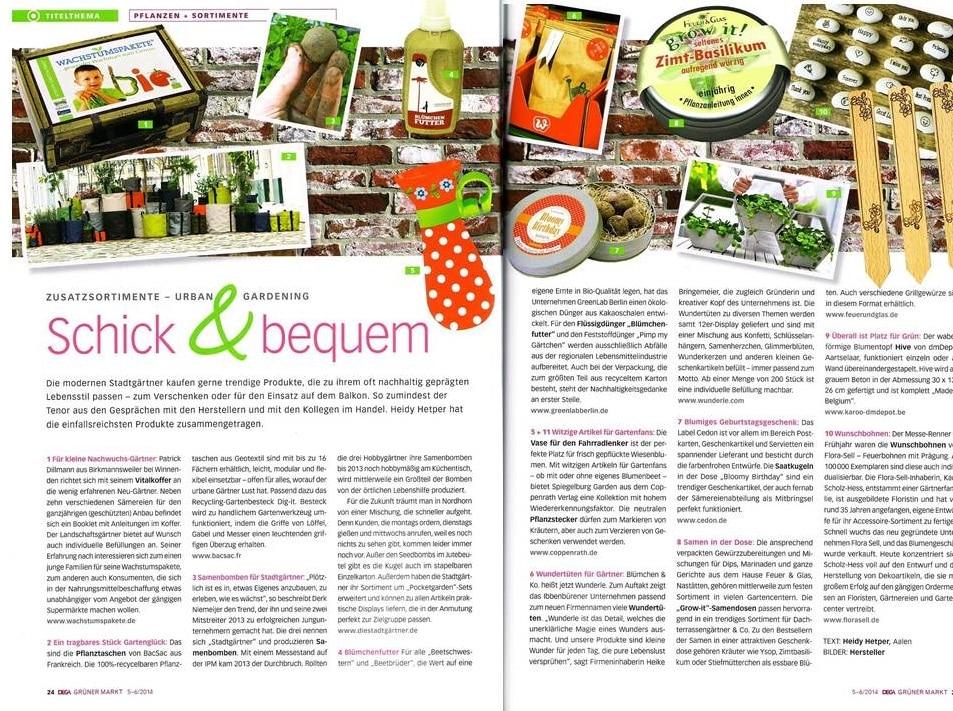 Gründer Markt - Schick & bequem