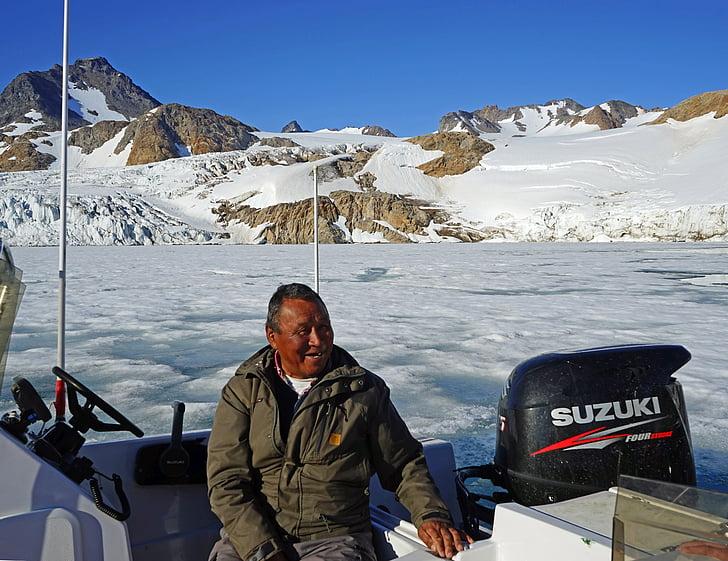 greenlanders inuit boot glacier