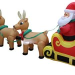 12-Foot-Long-Lighted-Christmas-Inflatable-Santa-Claus-on-Sleigh-with-3-Reindeer-and-Christmas-Tree-Yard-Decoration-0-1