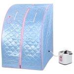 2l-Portable-Steam-Sauna-Tent-SPA-Detox-Weight-Loss-w-Chair-Blue-0