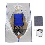 2l-Portable-Steam-Sauna-Tent-SPA-Detox-Weight-Loss-w-Chair-Silver-0