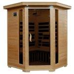3-Person-Hemlock-Corner-Infrared-Sauna-w-7-Carbon-Heaters-0