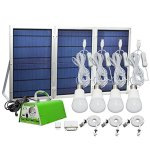 30W-Panel-Foldable-HKYH-Solar-Panel-Lighting-Kit-Solar-Home-DC-System-Kit-USB-Solar-Charger-with-4-LED-Light-Bulb-as-Emergency-Light-and-5-Mobile-Phone-Charger5V-2A-Output-Can-Charge-Power-Bank-0