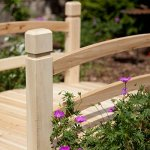 4-foot-Unfinished-Freestanding-Fir-Wood-Garden-Bridge-with-Hand-Rails-and-Posts-Bridge-Can-Be-Treated-with-Your-Preferred-Stain-0-0