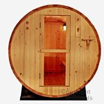 6-Ft-Canadian-Outdoor-RED-CEDAR-Barrel-Sauna-WET-DRY-SPA-4-Person-Size-0-1