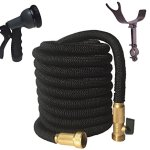 75-FOOT-Black-Expanding-Garden-Hose-NEW-2016-Design-Strongest-Expandable-Hose-TRIPLE-LAYER-Latex-Core-SOLID-BRASS-FittingShut-Off-Valve-TOUGH-Nylon-Fabric-Spray-Nozzle-STAINLESS-STEEL-Holder-0