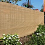 ALEKO-6-x-150-Feet-Beige-Fence-Privacy-Screen-Windscreen-Shade-Cover-Mesh-Fabric-Roll-with-Lock-Holes-0-1