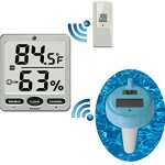 Ambient-Weather-WS-18-Wireless-8-Channel-Floating-Pool-and-Spa-Thermometer-with-Remote-Thermo-Hygrometer-0