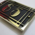 Art-Deco-Style-House-Address-Plaque-in-Solid-Cast-Aluminium-This-Hand-Made-in-England-Plaque-is-Created-Especially-for-You-to-Your-Specifications-0-0