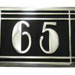 Art-Deco-Style-House-Address-Plaque-in-Solid-Cast-Aluminium-This-Hand-Made-in-England-Plaque-is-Created-Especially-for-You-to-Your-Specifications-0