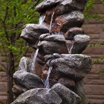 Bear-Creek-Waterfall-Fountain-Towering-Rock-Outdoor-Water-Feature-for-Gardens-Patios-Hand-crafted-Weather-Resistant-Resin-LED-Lights-Pump-Included-0-1
