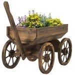 Best-Choice-Products-Patio-Garden-Wooden-Wagon-Backyard-Grow-Flowers-Planter-w-Wheels-Home-Outdoor-0