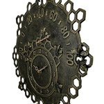 Busy-Bees-Bronze-Finish-Garden-Clock-and-Thermometer-0-0