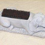 DOG-BOOT-BRUSH-Concrete-Gray-17-PUPPY-SHOE-SCRAPER-CAST-CEMENT-Outdoor-GARDEN-0