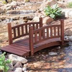 Durable-and-Gorgeous-Richmond-4-ft-Red-Shorea-Wood-Garden-Bridge-with-Arched-Hand-Rails-Assembly-Required-0